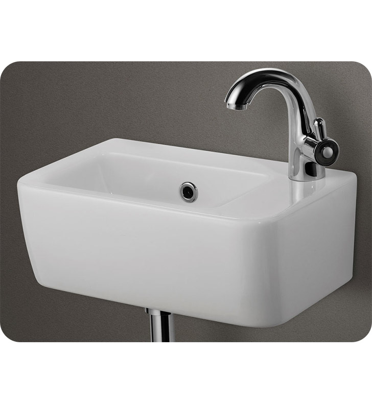 alfi brand ab101 small white wall mounted ceramic bathroom sink basin