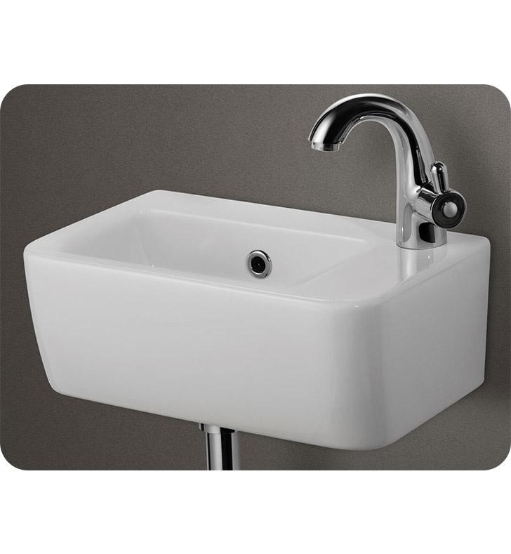Bathroom Sink Brands : ALFI Brand AB101 Small White Wall Mounted Ceramic Bathroom Sink Basin