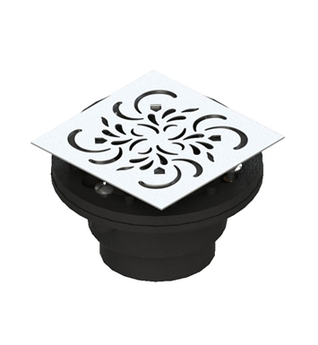 Rubinet 9FSD22BD Shower Drain for concrete base with Paisley pattern With Finish: Bordeaux