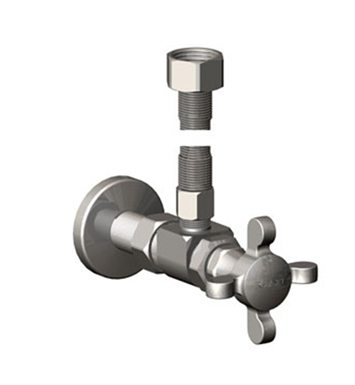 Rubinet 9KLV1SB Widespread Lavatory Faucet Supply Kit with Supply Valves & Flextubes With Finish: Satin Brass
