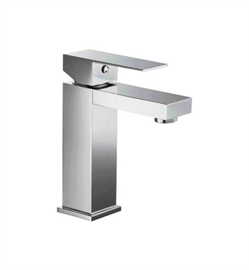ALFI Brand AB1229-PC Polished Chrome Square Single Lever Bathroom Faucet