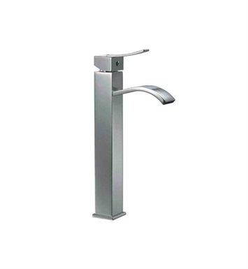 ALFI Brand AB1158-BN Tall Brushed Nickel Tall Square Body Curved Spout Single Lever Bathroom Faucet