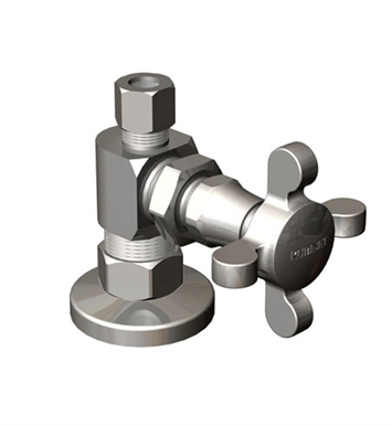 Rubinet 9ASV4CH Supply Valves & Flextubes Classic Straight Supply Valve With Finish: Chrome