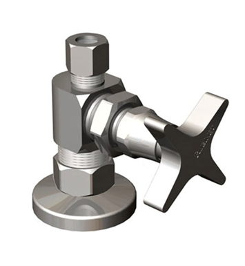 Rubinet 9ASV5SC Supply Valves & Flextubes Contemporary Straight Supply Valve With Finish: Satin Chrome