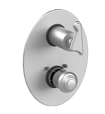 Rubinet 2QJSSSNSN Jasmin Temperature Control Valve with Built-In Stops & Two Way Diverter with Shut off With Finish: Main Finish: Satin Nickel | Accent Finish: Satin Nickel
