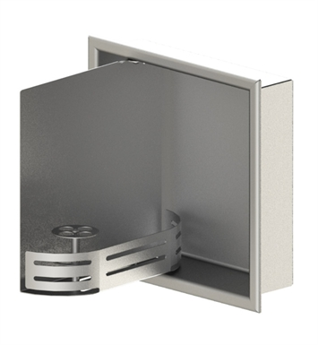 "Rubinet 9TWN3SNSN 12""x12"" Recessed Wall Niche with Door With Finish: Main Finish: Satin Nickel 