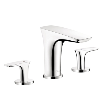 Hansgrohe 15440401 PuraVida 3 Hole Roman Tub Set Trim With Finish: White/Chrome