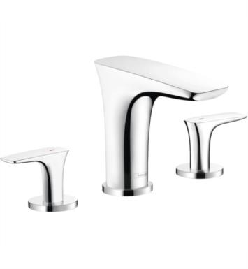 "Hansgrohe 15440001 PuraVida 10 1/4"" Three Hole Widespread/Deck Mounted Roman Tub Faucet Set Trim With Finish: Chrome"