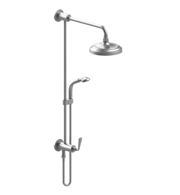 Rubinet 4UJS1 Jasmin Bar with Inlet at Diverter, Shower Head,Shower Arm, Adjustable Slide Bar and Hand Held Shower with Diverter