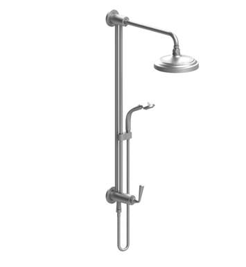 Rubinet 4UJS2 Jasmin Bar with Inlet at Shower Head, Shower Arm, Adjustable Slide Bar and Hand Held Shower with Diverter