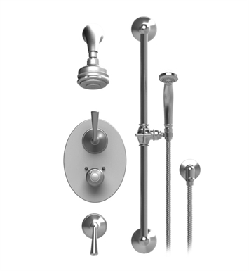 Rubinet 40JSL Jasmin Temperature Control Shower with Aquatron 3 Function Shower Head, Bar, Integral Supply & Hand Held Shower
