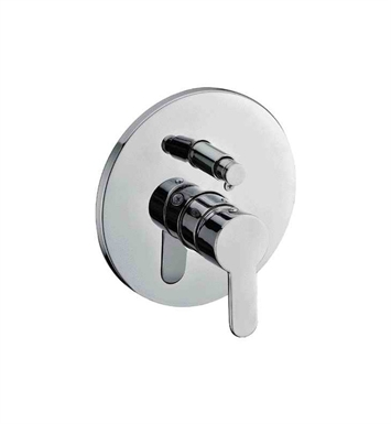ALFI Brand AB3101-BN Brushed Nickel Shower Valve Mixer with Rounded Lever Handle and Diverter