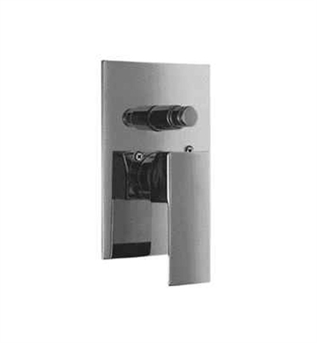 ALFI Brand AB5601-BN Brushed Nickel Shower Valve Mixer with Square Lever Handle and Diverter
