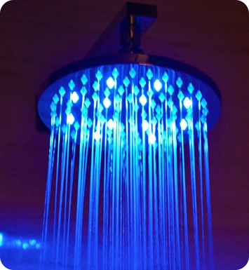 ALFI Brand LED5002 8 inch Round Multi Color LED Rain Shower Head