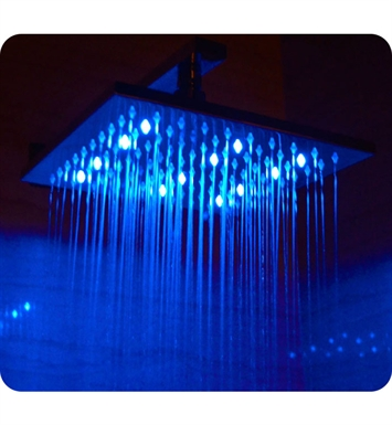 ALFI Brand LED5005 10 inch Square Multi Color LED Rain Shower Head