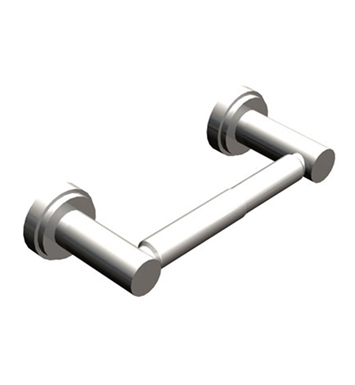 Rubinet 7ELA0CHWH LaSalle Toilet Paper Holder (Double Post) With Finish: Main Finish: Chrome | Accent Finish: White