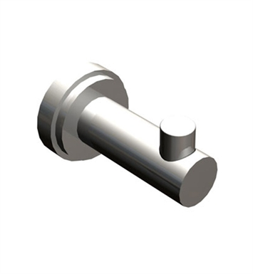 Rubinet 7HLA0CHWH LaSalle Robe Hook With Finish: Main Finish: Chrome | Accent Finish: White