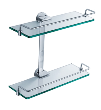 Fresca FAC0946 Ultimo 2 Tier Bathroom Glass Shelf in Chrome