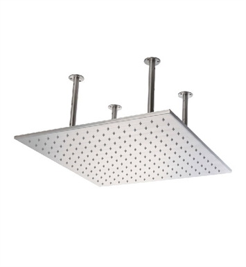 ALFI Brand LED5014-BSS 20 inch Square Brushed Solid Stainless Steel Multi Color LED Rain Shower Head