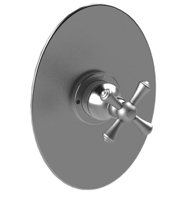 Rubinet 4YFMCWHBB Flemish Pressure Balance Shower Valve Only with Stops With Finish: Main Finish: White | Accent Finish: Bright Brass