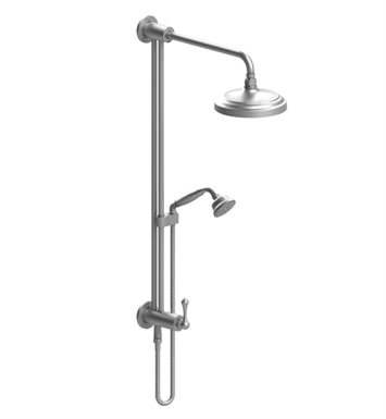 Rubinet 4UFM2CHCH Flemish Bar with Inlet at Shower Head, Shower Arm, Adjustable Slide Bar and Hand Held Shower with Diverter With Finish: Main Finish: Chrome | Accent Finish: Chrome