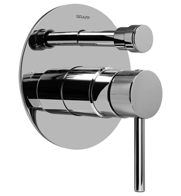 Graff G-7080-LM37S-PN Pressure Balancing Valve Trim with Handle and Diverter With Finish: Polished Nickel