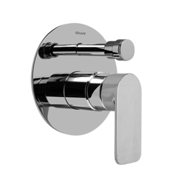 Graff G-7080-LM42S-WT Pressure Balancing Valve Trim with Handle and Diverter With Finish: Architectural White
