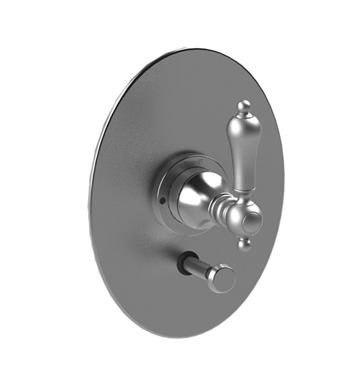 Rubinet 2YRMLSNCH Romanesque Pressure Balance Valve Only with Diverter & Stops With Finish: Main Finish: Satin Nickel | Accent Finish: Chrome