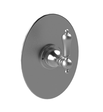 Rubinet 4YRMLCHWH Romanesque Pressure Balance Shower Valve Only with Stops With Finish: Main Finish: Chrome | Accent Finish: White