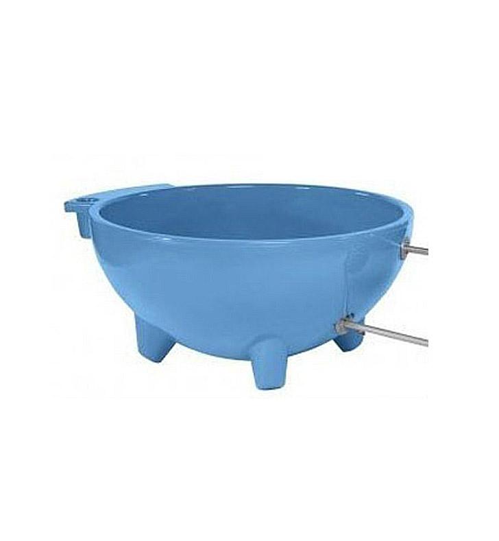 Alfi brand firehottub lb round fire burning portable Fiberglass garden tubs
