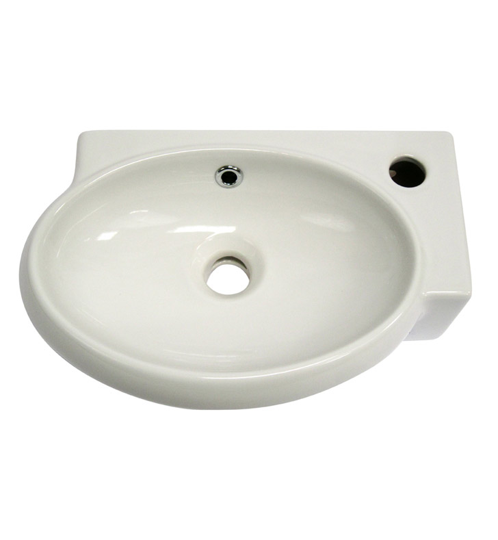 Small Wall Mount Sink : ALFI Brand AB107 Small White Wall Mounted Ceramic Bathroom Sink Basin