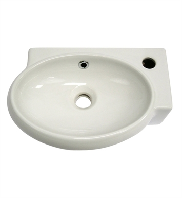 alfi brand ab107 small white wall mounted ceramic bathroom sink basin. Black Bedroom Furniture Sets. Home Design Ideas