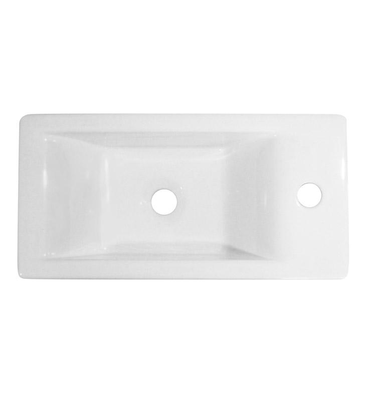 Alfi Brand Ab108 Small White Modern Rectangular Wall
