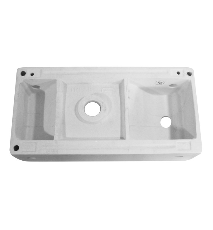 ... White Modern Rectangular Wall Mounted Ceramic Bathroom Sink Basin