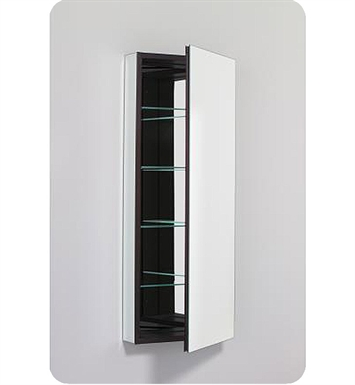 "Robern PLM1640BBLE PL Series 15-1/4"" x 39-3/8"" Customizable Medicine Cabinet w/ Wide Flat Door With Cabinet Hinge: Left with Electric Option And Mirror Type / Lens: Beveled And Style and Color: Black Interior"