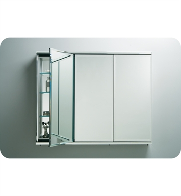 "Robern TFC3638E C Series 36"" x 38 1/8"" Three-Door Flat Beveled Mirrored Cabinet With Configuration: With Electric (two electrical outlets)"