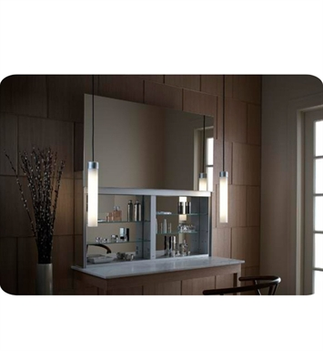 "Robern UC4827FP Uplift 48"" Customizable Medicine Cabinet with LED Interior Lighting, Electrical Outlets and Interior Mirror"