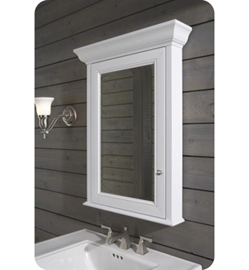 "Robern MT20D4FH Fairhaven Traditional Medicine Cabinet with White Aluminum / White 4"" Interior"