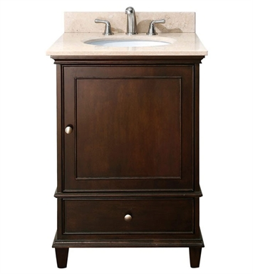 "Avanity WINDSOR-VS24-WA Windsor 24"" Walnut Antique Bathroom Vanity with Countertop and Sink"