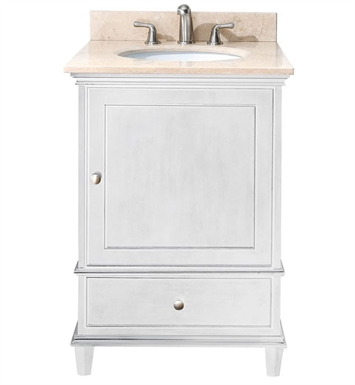 "Avanity WINDSOR-VS24-WT Windsor 24"" White Antique Bathroom Vanity with Countertop and Sink"