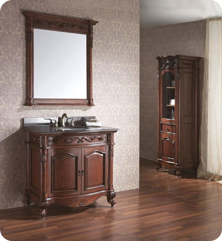 Avanity provence v36 ac provence 36quot cherry antique for Avanity provence bathroom vanity