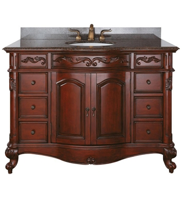 "Avanity PROVENCE-V48-AC Provence 48"" Cherry Antique Bathroom Vanity"