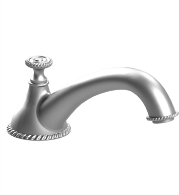 Rubinet 2TETDSNGD Etruscan Deck Mount Tub Spout With Finish: Main Finish: Satin Nickel | Accent Finish: Gold