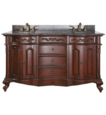 "Avanity PROVENCE-V60-AC Provence 60"" Cherry Antique Double Sink Bathroom Vanity"