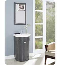 Fairmont Designs Bouelvard 24 inch Curved Vanity and Sink Set in Charcoal Gray