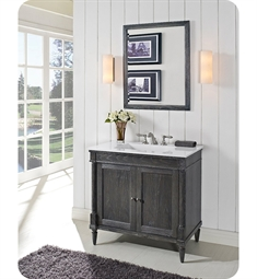 Fairmont Designs 143-V36 Rustic Chic 36 inch Vanity in Silvered Oak