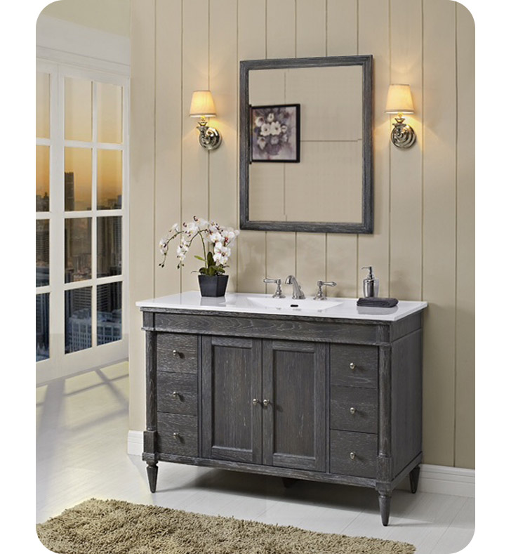 143 V48 Fairmont Designs Rustic Chic 48 Inch Vanity In Silvered Oak Modernbath Com