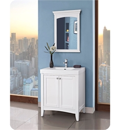fairmont designs 1512v3018 shaker americana 30 x 18 inch vanity in polar white - Fairmont Vanities
