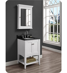 Fairmont Designs Shaker Americana 30 inch Open Shelf Vanity in Polar White