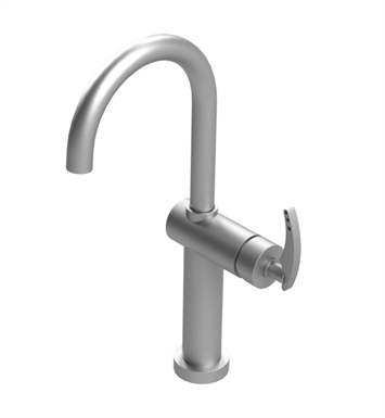 Rubinet 1LLALSCSC LaSalle Single Control Lavatory Set with Push-Up Drain Assembly With Finish: Main Finish: Satin Chrome | Accent Finish: Satin Chrome